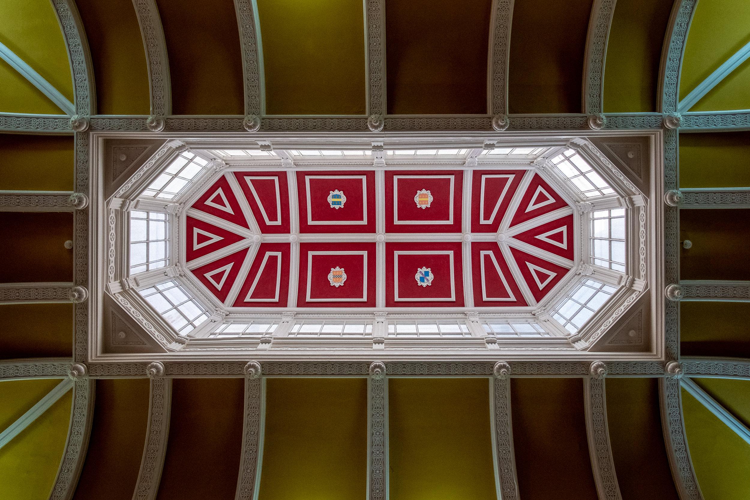 Taket på insidan av Baskerville Hall Hotel. Här bodde vi, och här ägde även festivalen rum.