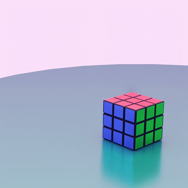 Ruby Ruby Ruby. #RNDR2 Movement coming soon. . . . . . . #blender #rubixcube #rubix #colour #shading #3d #modelling #reflections #materials #.blend #environment #nodes #animation