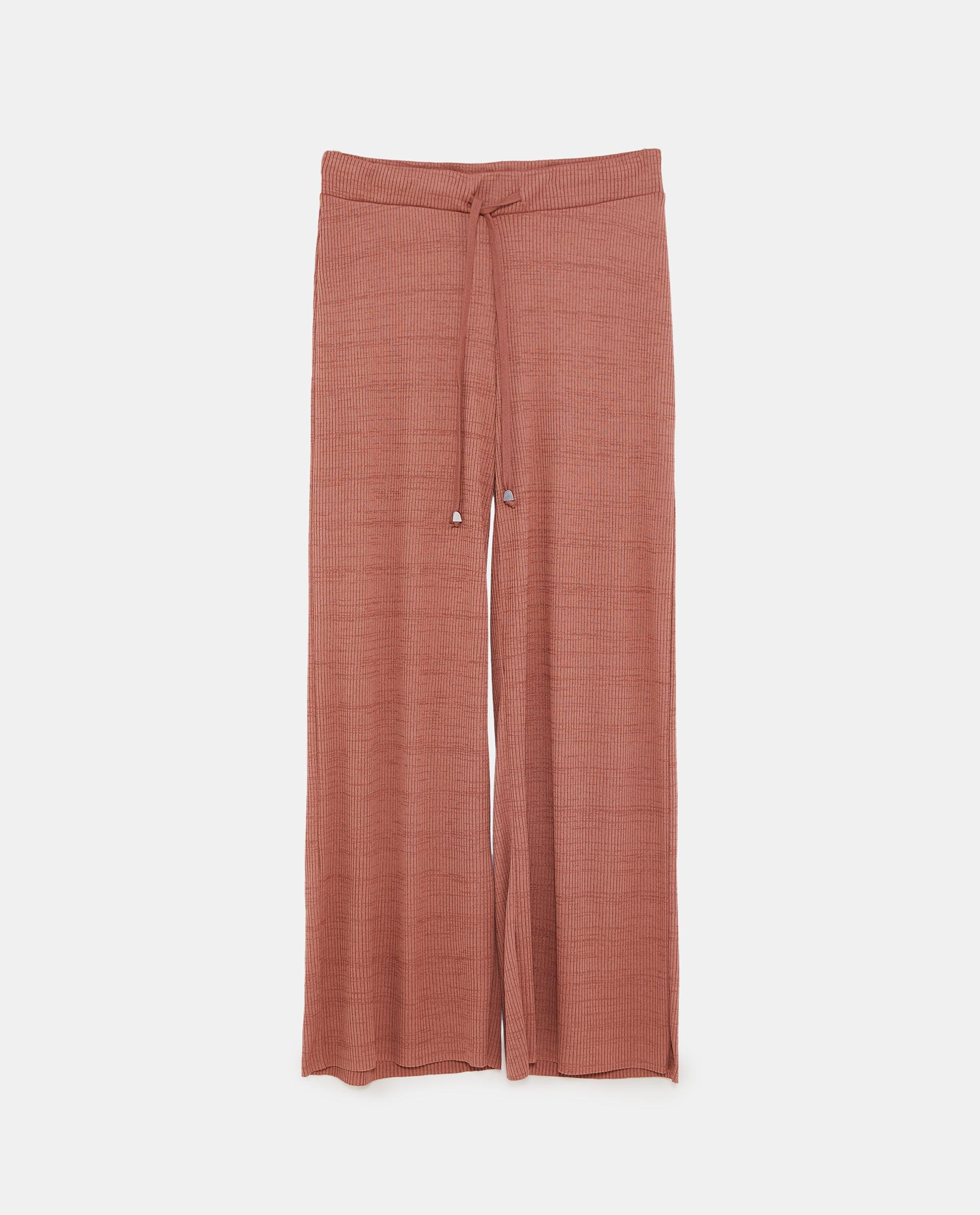 ribbed trouser, Zara, brick, £19.99