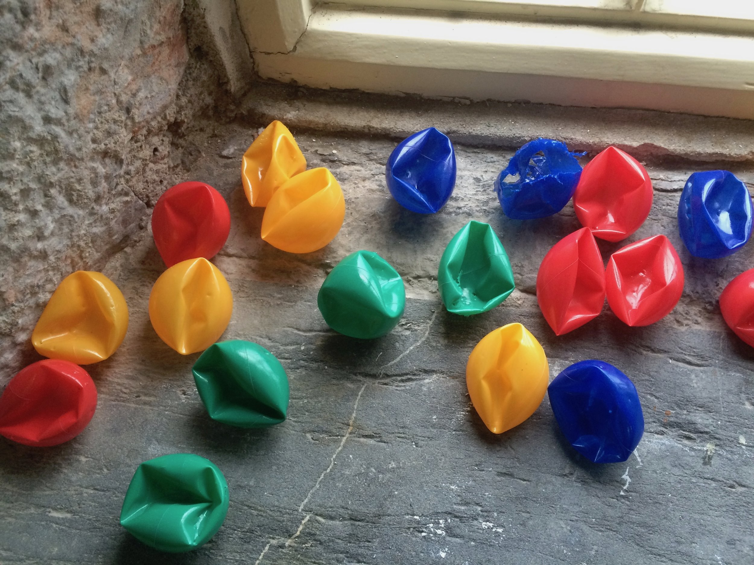 Asda Plastic Balls, Manipulated by Canine Jaw (size variable)