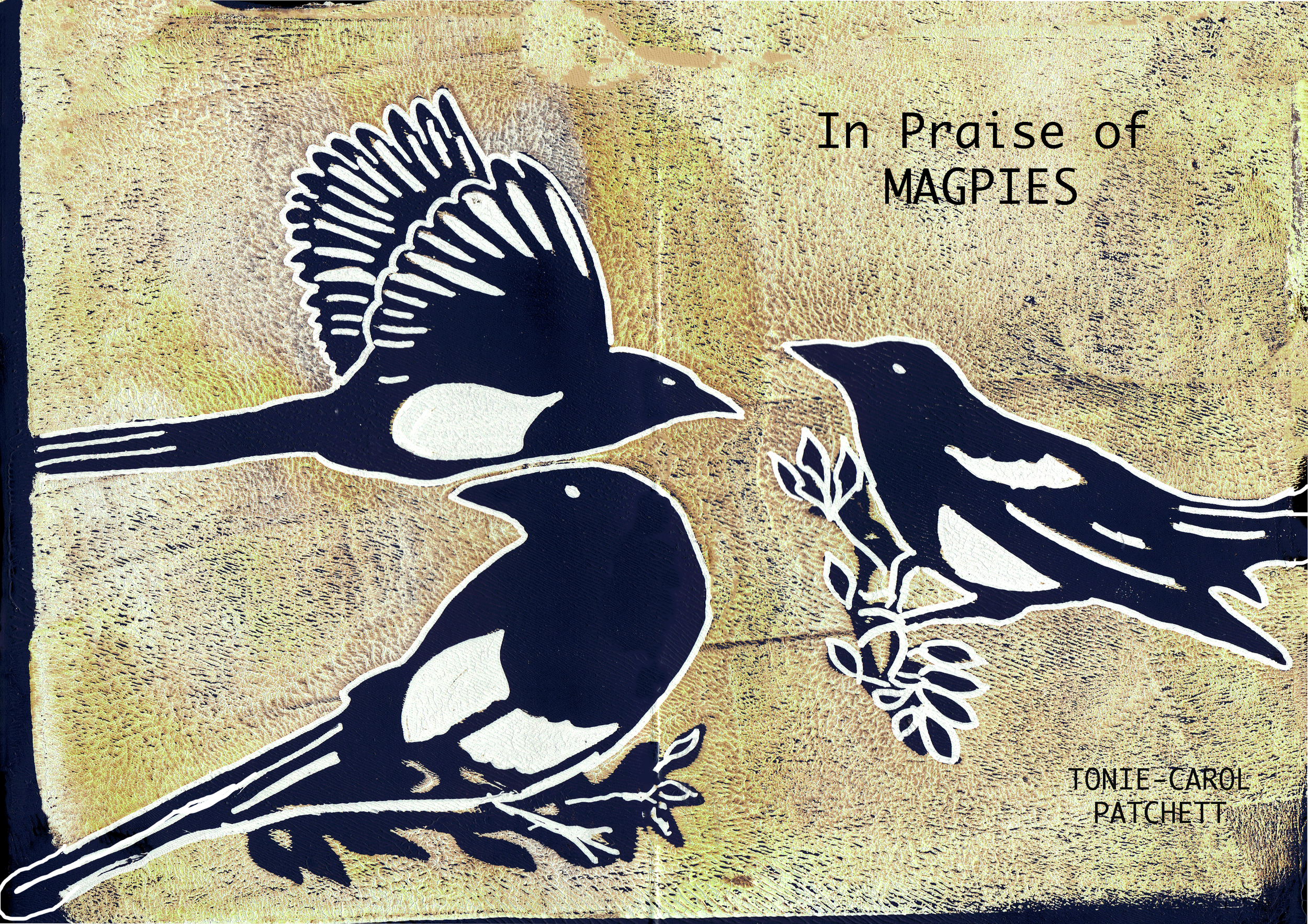 Cover of Booklet, Gelli print and Photoshop enhancement