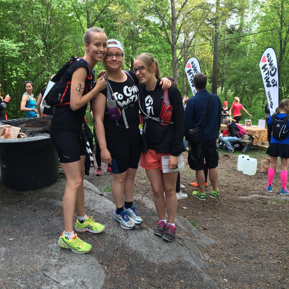 Tjejmaraton 2016, June 2016 with my sisters