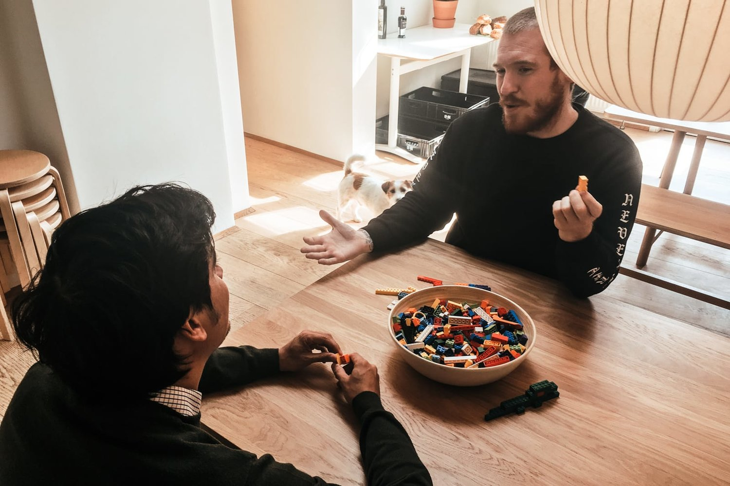 Sometimes, all you need to get people to connect is LEGO bricks.