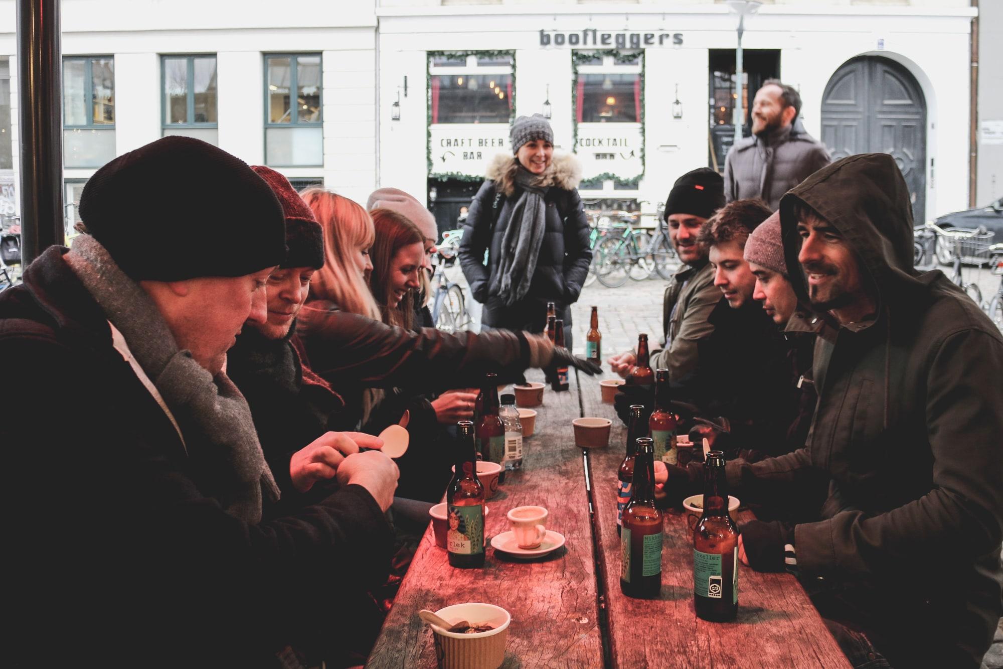 The Conferize team freezing in Copenhagen, Denmark