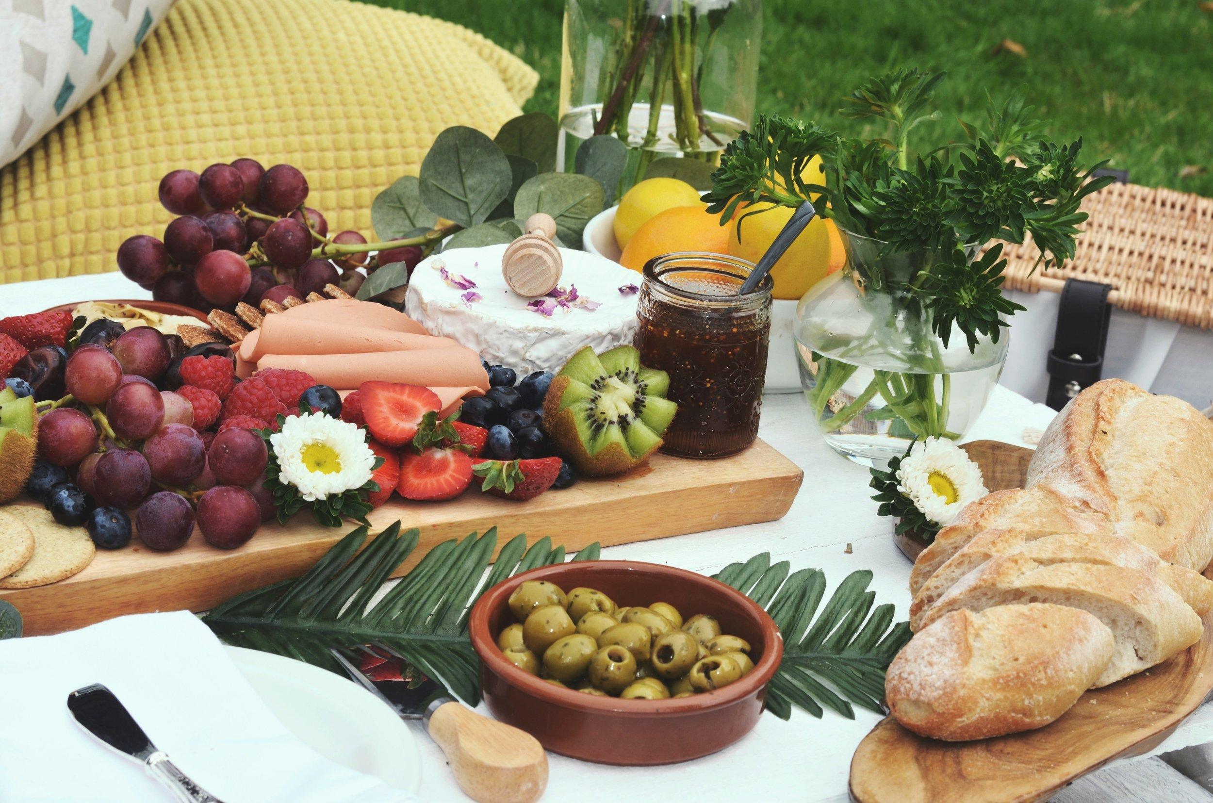 summer picnic platter