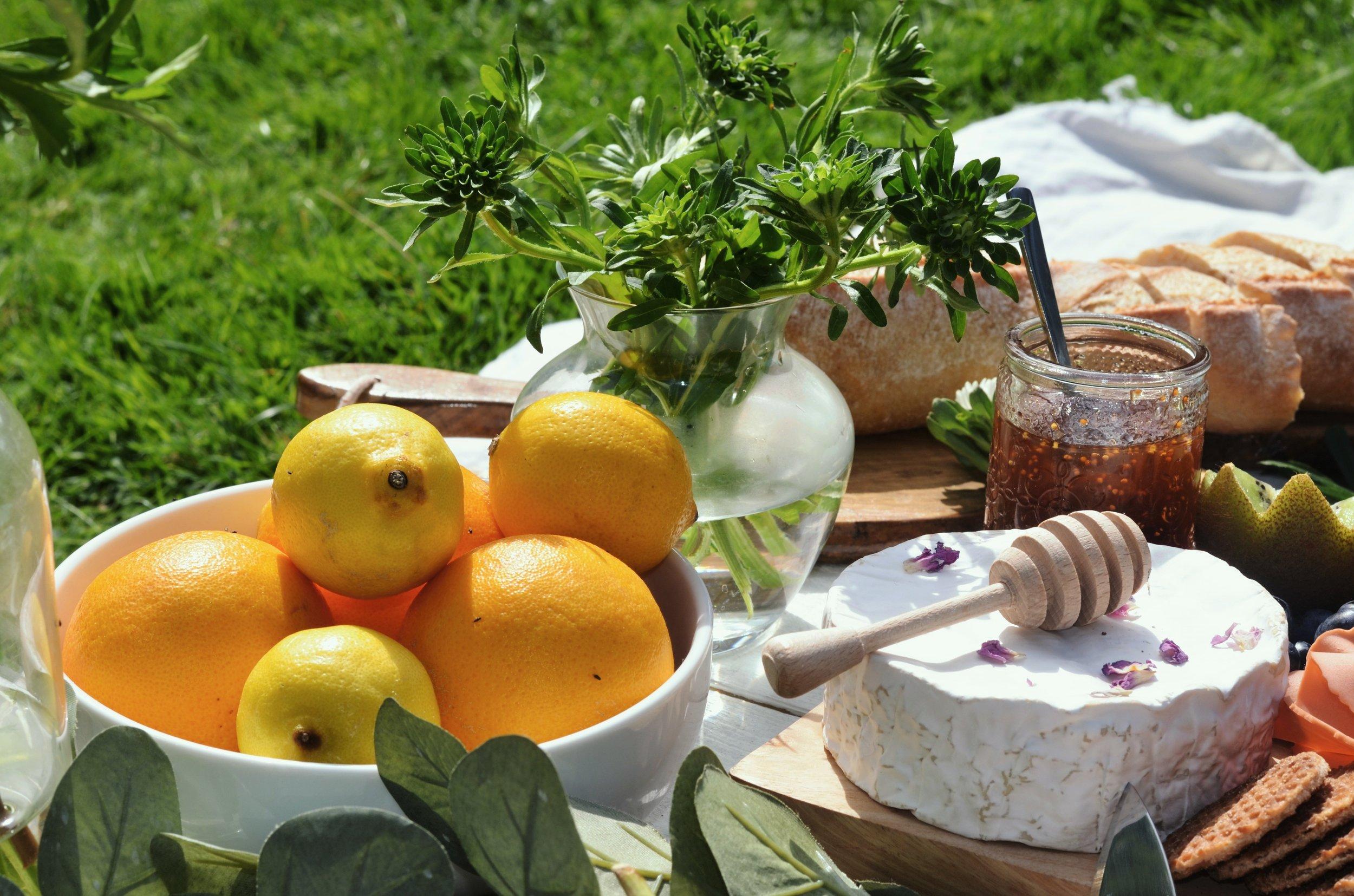 summer picnic lemon honey