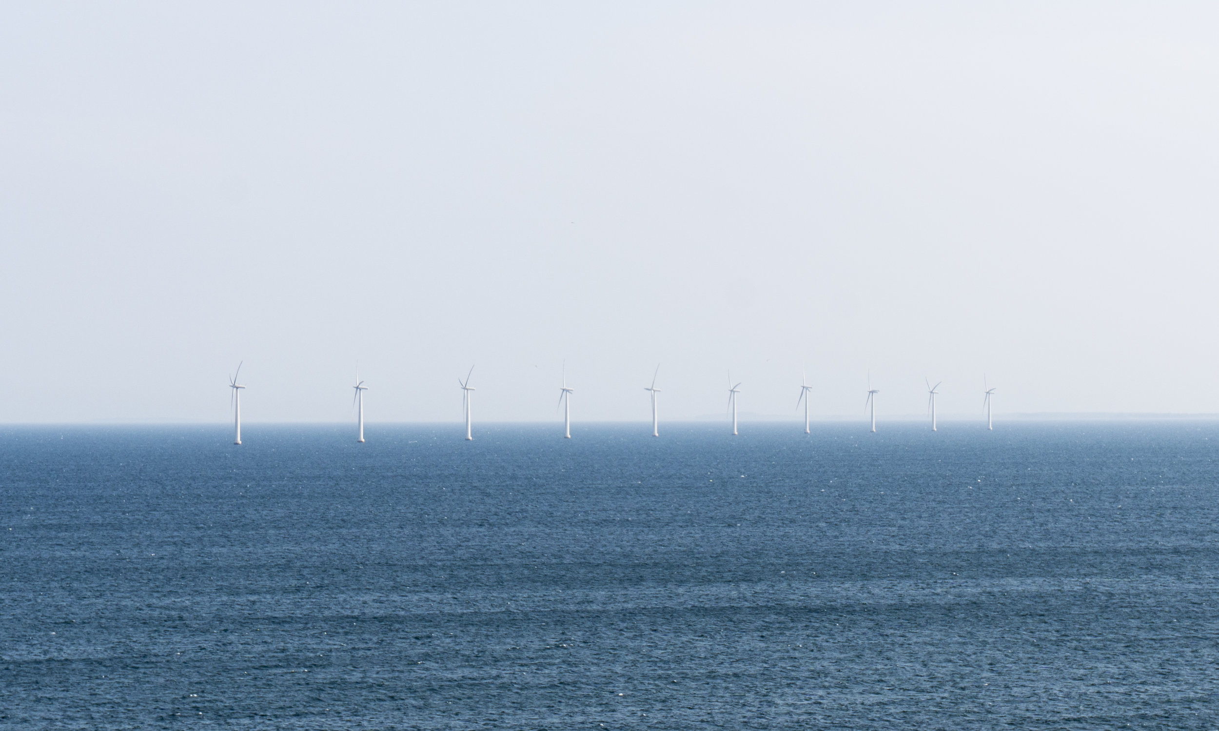 The offshore turbines south of the island. Picture by Amélie Drouet