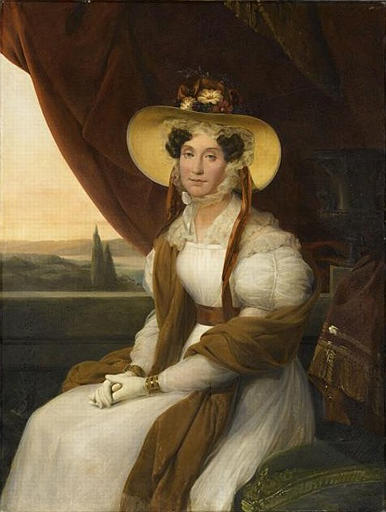 Portrait of Louise Adélaïde d'Orléans, by Marie-Amélie Cogniet, based on a portrait by Auguste de Creuse (1838) in the Musée Condé.