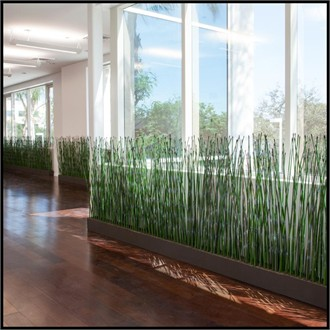Artificial Reed Grass from Hooks and Lattice