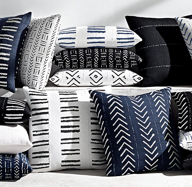 African Mud Cloth Throw Pillows Landstylist Landscape Design Ideas Curated