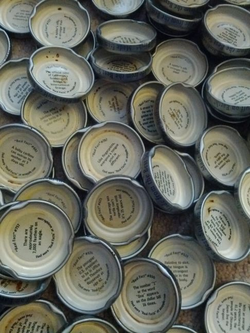 FOUND SNAPPLE BOTTLE CAP POEM DOUBLING AS ARS POETICA  1 in Forklift, Ohio