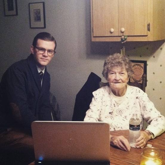 That's me on the left with my grandmother looking over the family tree in 2010 - ©2018 Owen mccafferty