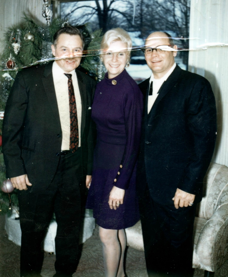 My grandfather (right) with his biological brother and sister, 1969. ©2018 Personal collection of Owen M. McCafferty II