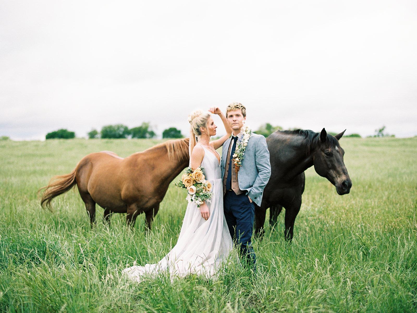 Texas wedding with horses