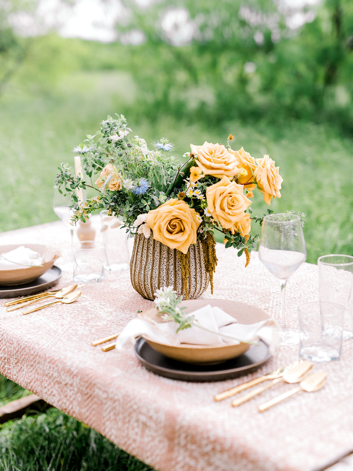 Yellow Rose of Texas Table Centerpiece
