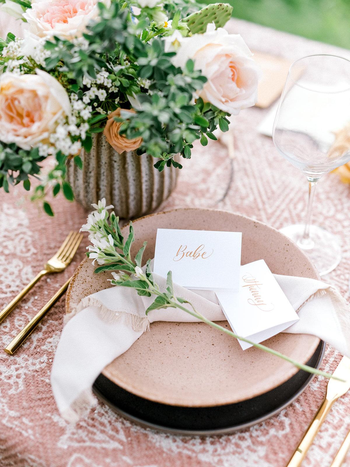 Elegant Country Wedding Table Setting