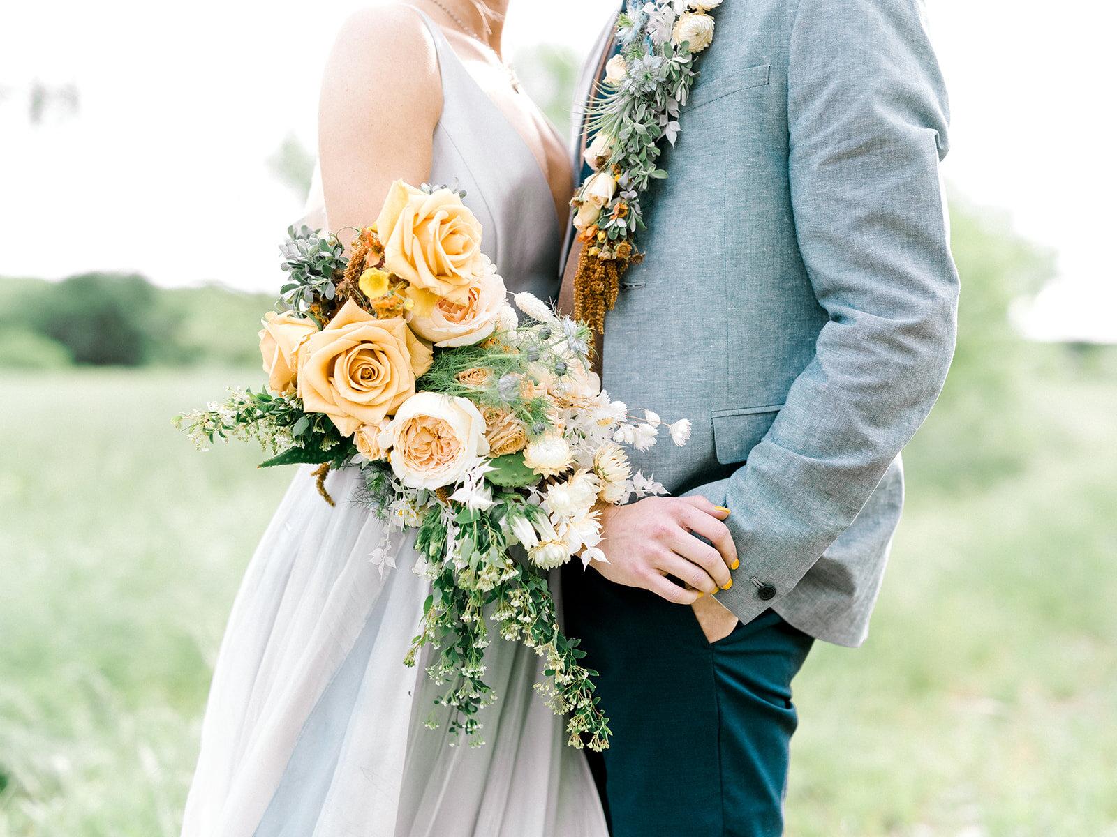 Yellow Rose of Texas Wedding Flowers