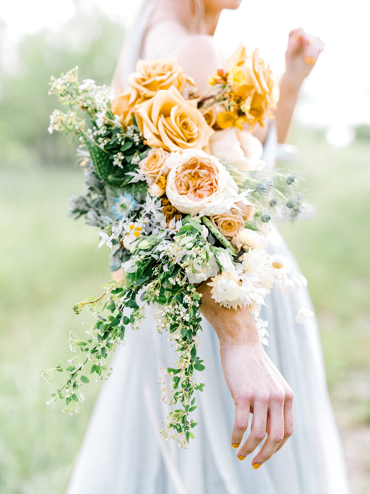 Elegant Yellow Rose of Texas Floral Sleeve