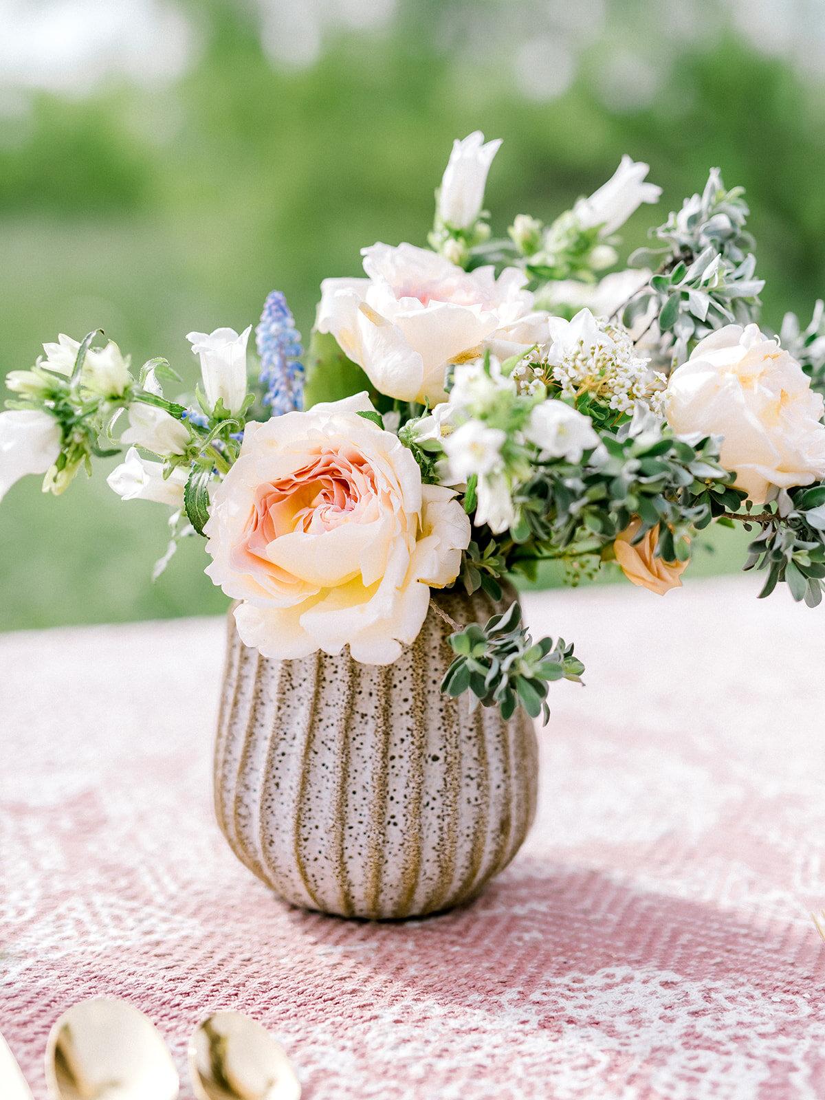 Elegant Countryside Wedding Floral Arrangement