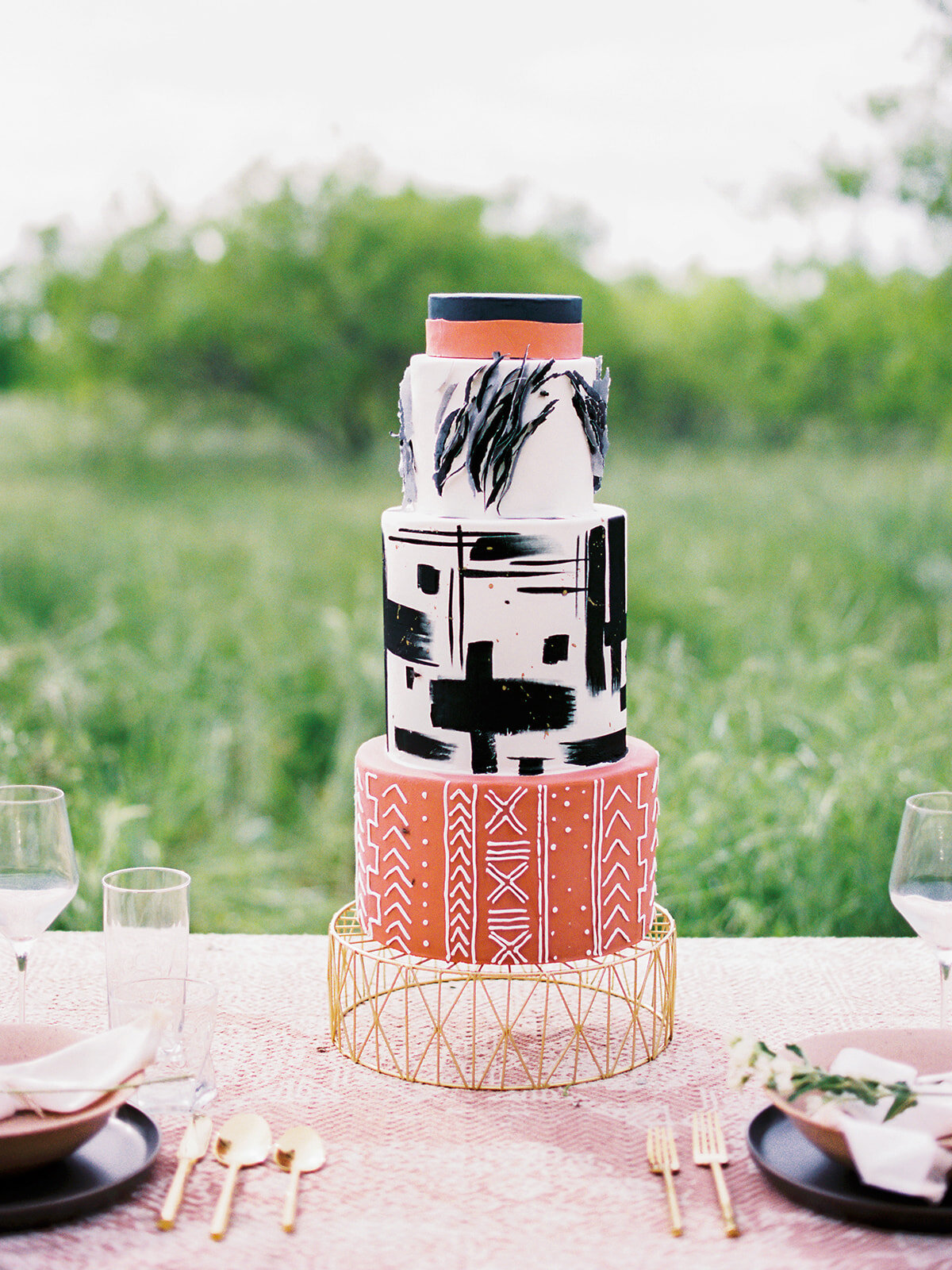 Native Texas Inspired Wedding Cake