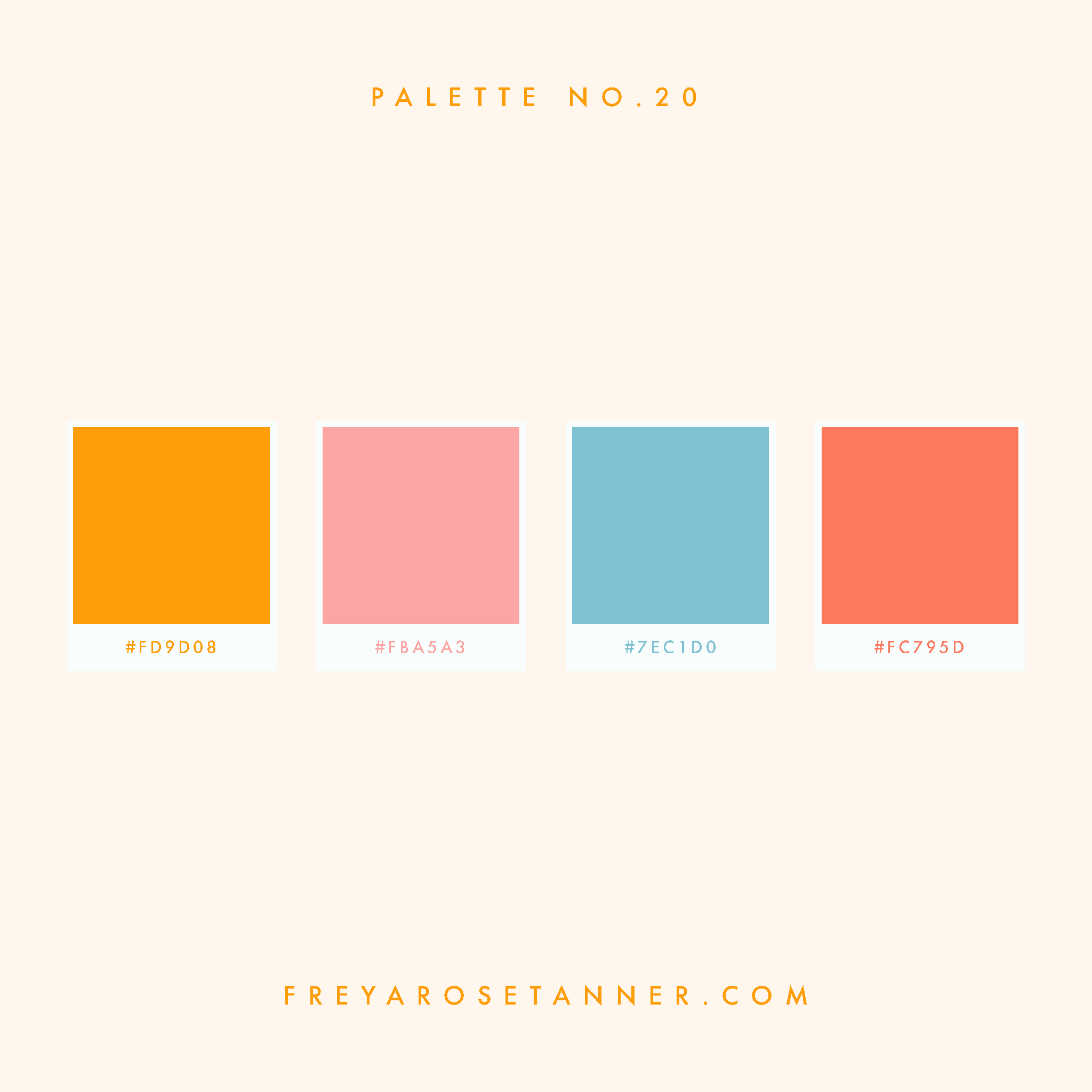 Golden yellow orange Pink baby blue red coral Bright Vibrant Colour palette no.20.jpg
