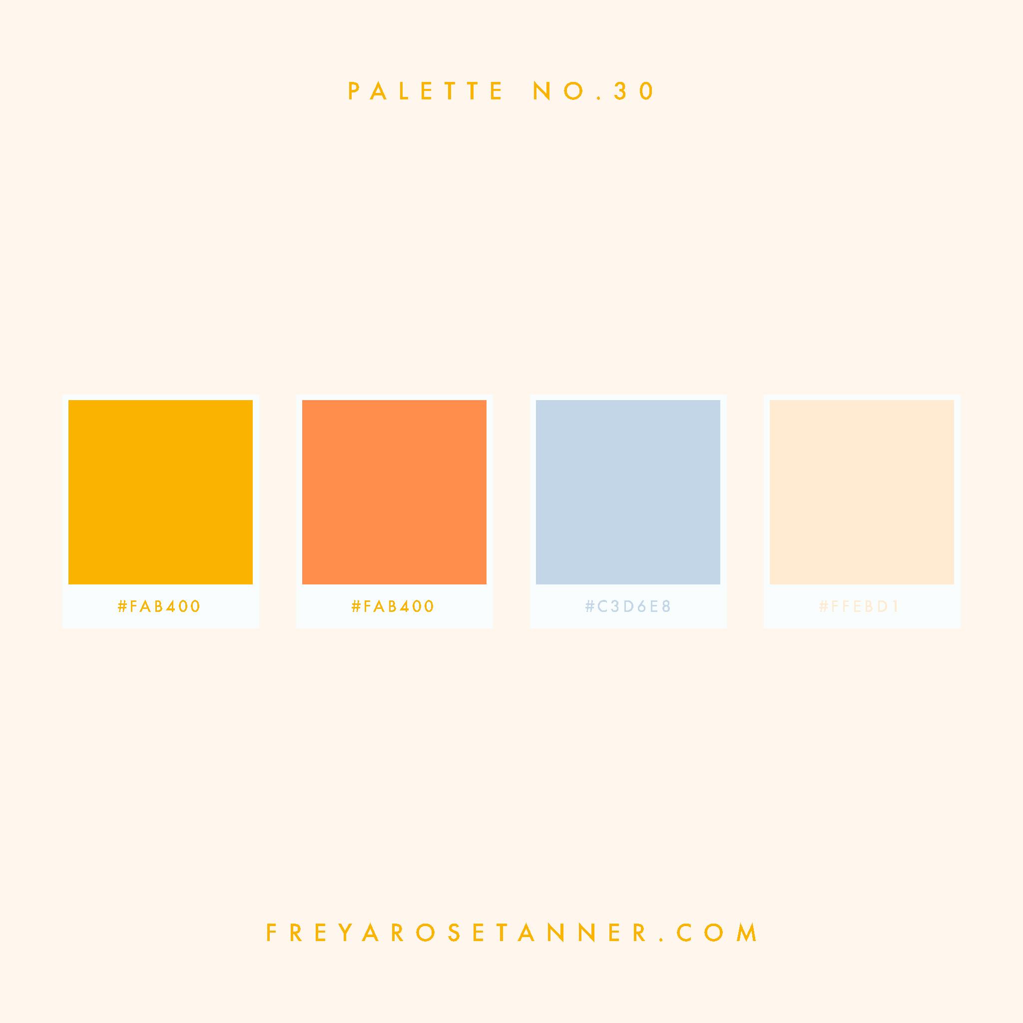 golden yellow bright orange baby blue pastel cream Vibrant Colour palette no.30.jpg