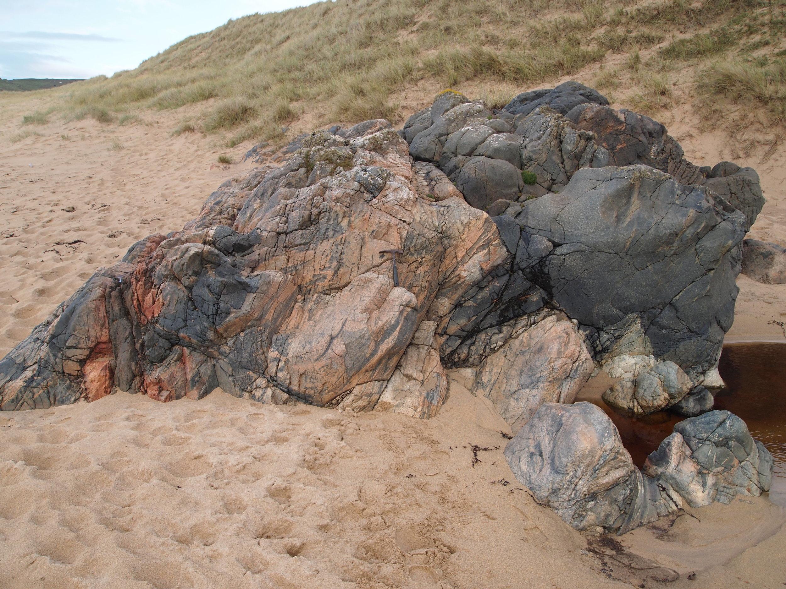Rhinns Complex gneiss at Lossit Bay