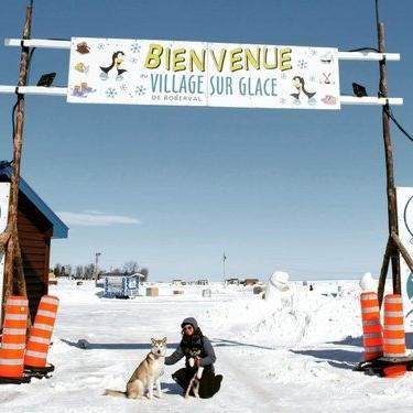 Village sur glace -