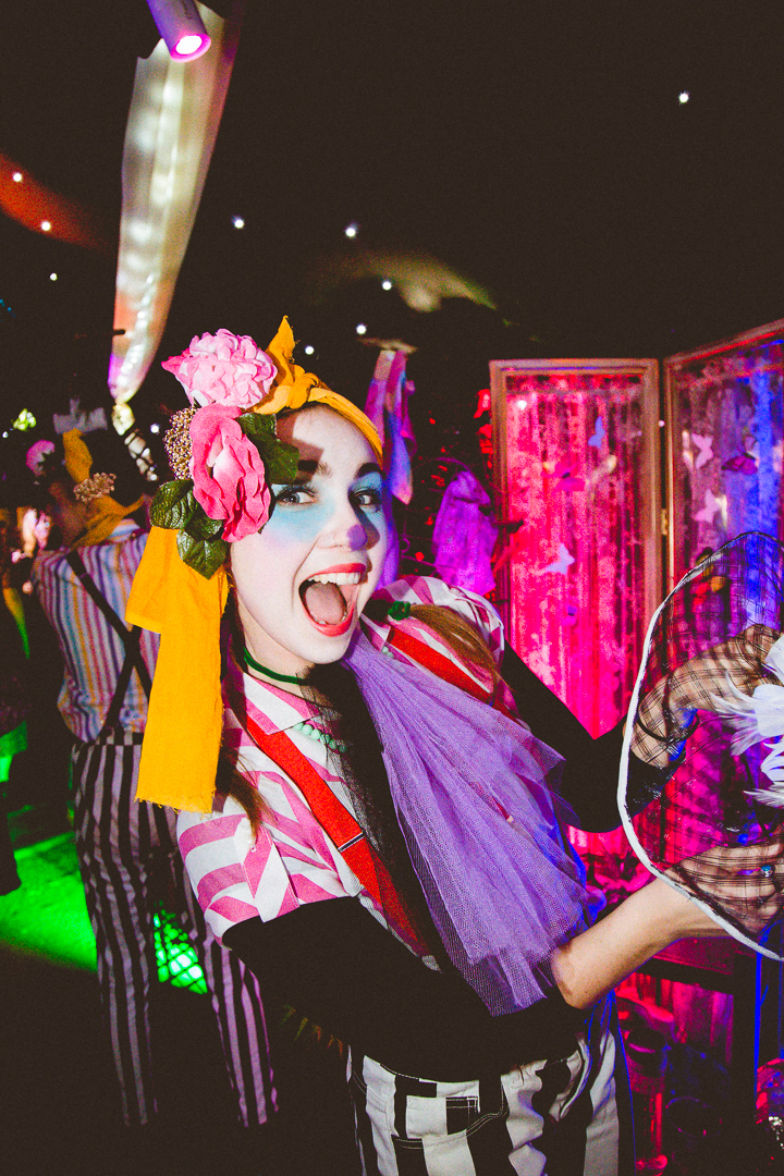 Clowny at The Colour Critters Immersive Selfy Booth. Photo:    PeanutButterVibes Photography