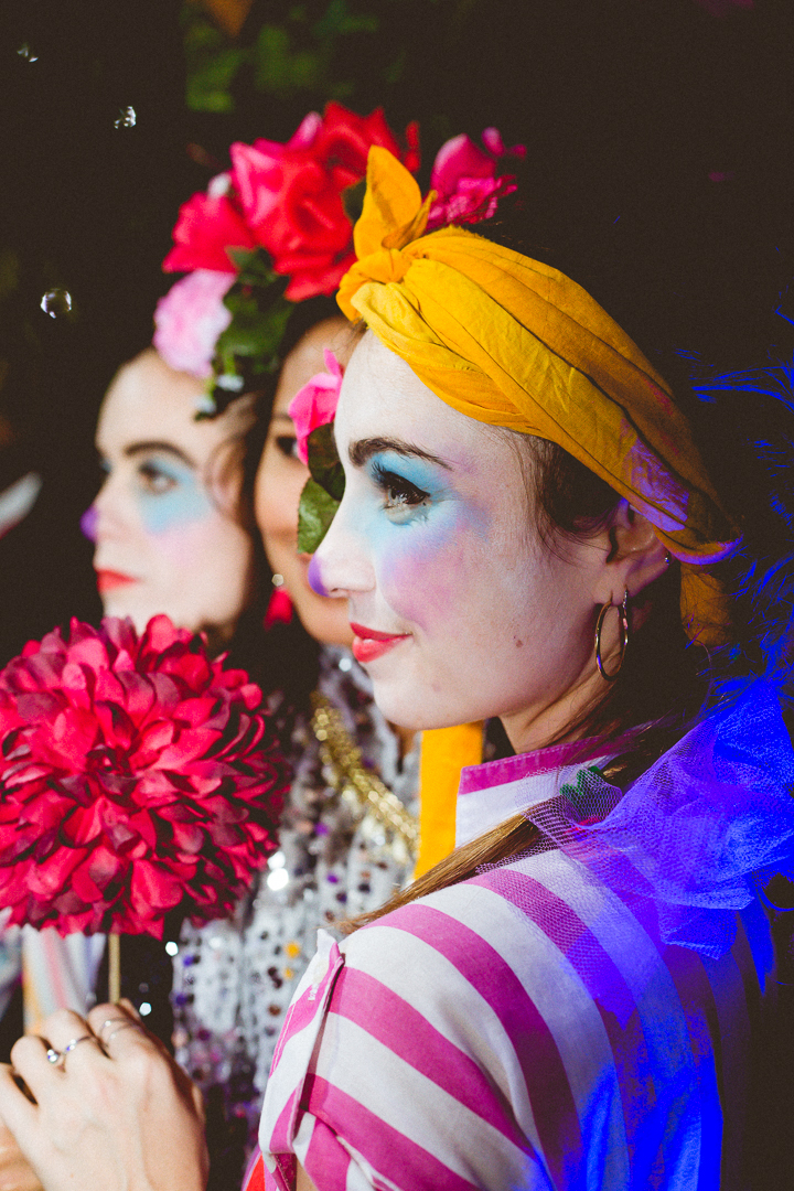 Clown Twins at The Colour Critters Immersive Selfy Booth. Photo:    PeanutButterVibes Photography