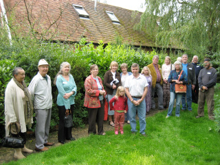The visiting group having the guided tour.