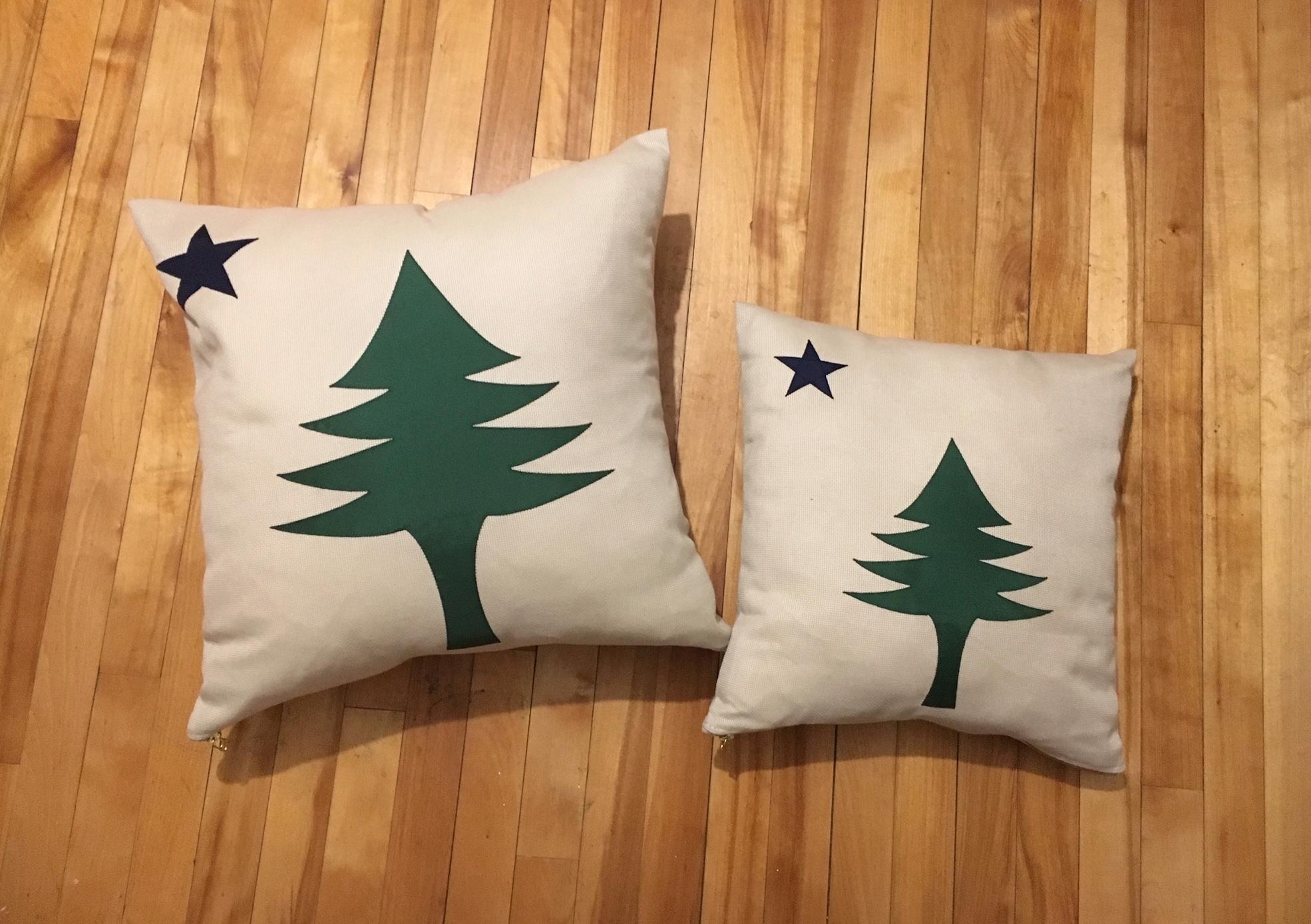 Original Maine Flag Throw Pillow Original Maine Hats Shirts Stickers And More Featuring The Original 1901 Maine Flag