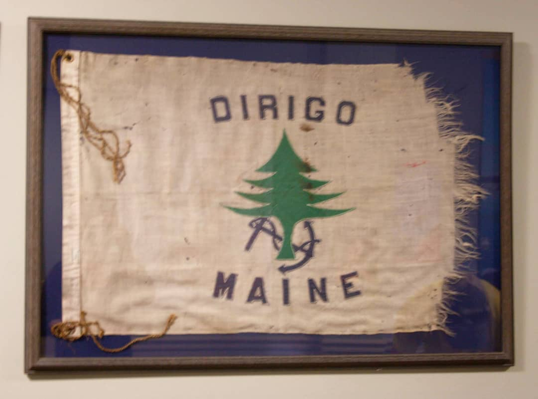 The 1939 Maine merchant and marine flag as it appears today.