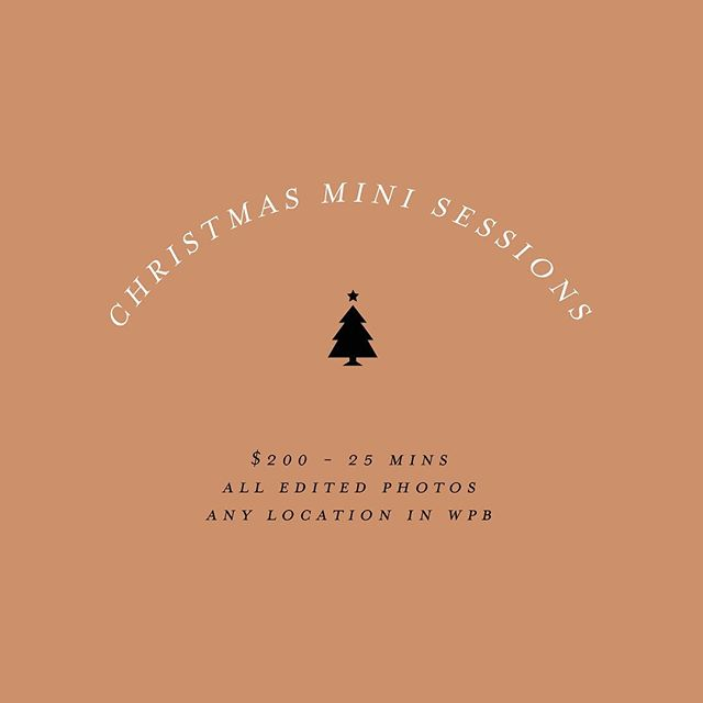 Holiday season is upon us. Now offering Christmas mini sessions. Limited spots.  Email j@ruandco.co to book your session.  #ruandcostudio