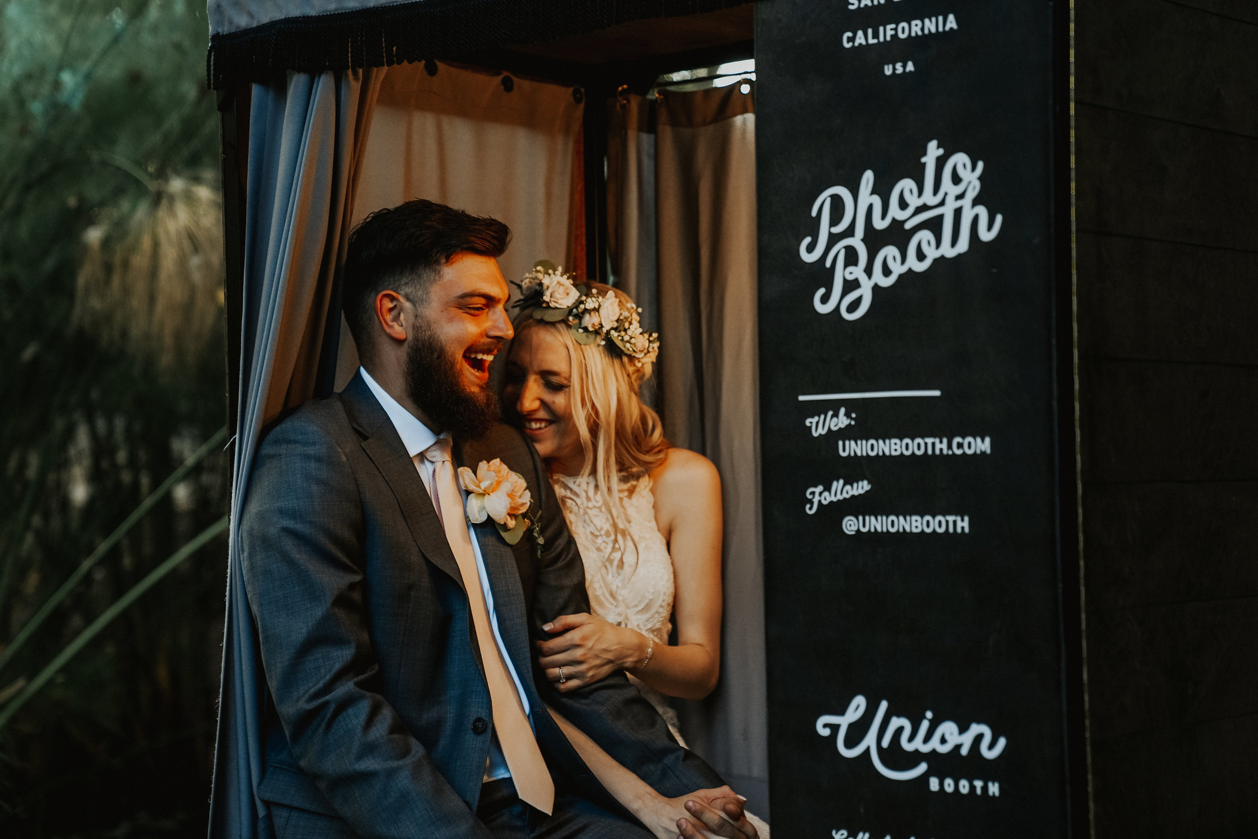 Vintage style wedding photo booth by Union Booth California
