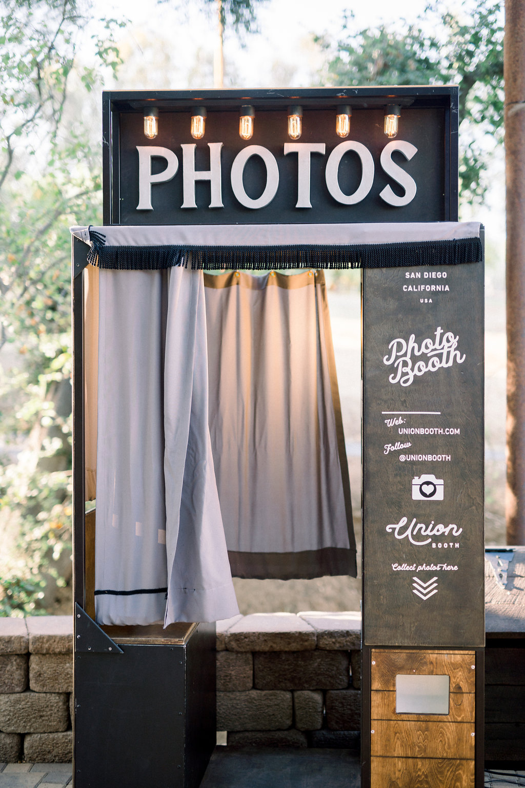 Vintage style photo booth rental San Diego | Kenwood enclosed booth for rental and purchase by Union Booth