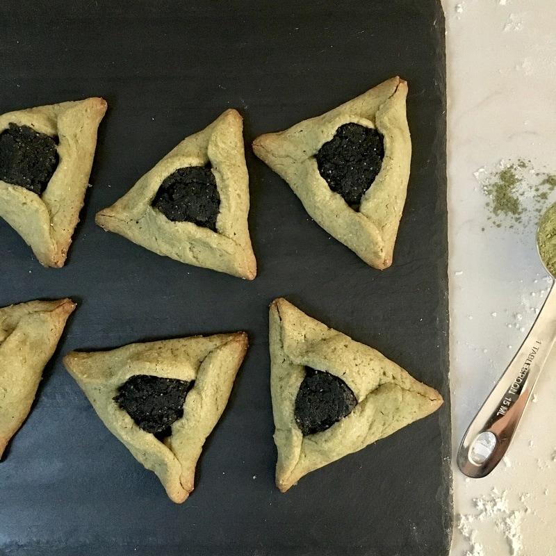 Matcha Black Sesame Hamantaschen for Purim | Nourish SF