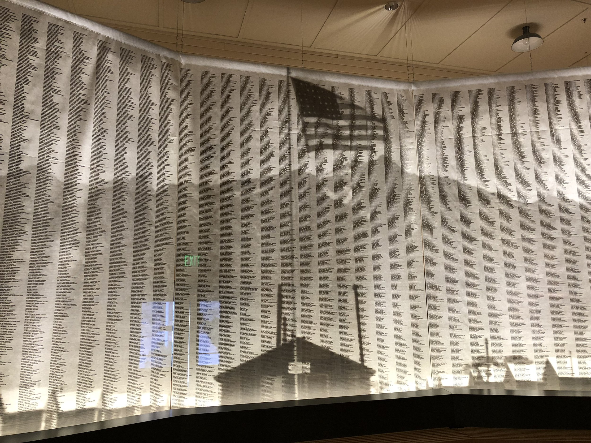 120,000 names of forcibly incarcerated Japanese-Americans
