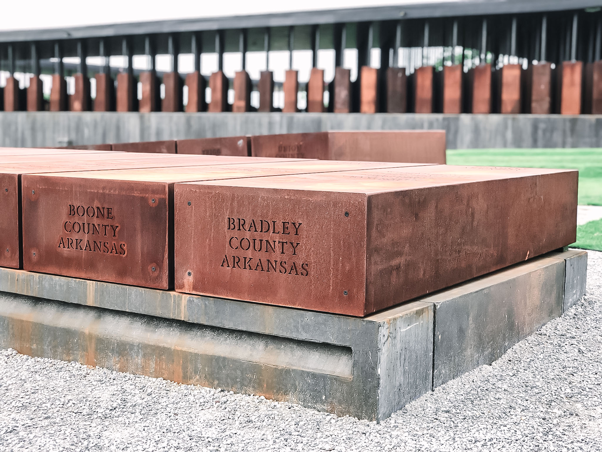 Duplicates of the monuments lie outside like coffins, waiting to be claimed and acknowledged by the counties in which the lynchings took place. Over time, it will be telling to see what counties claim the monuments, and which ones don't.