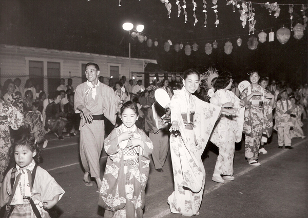 An Obon festival in Los Angeles in the 1950's. Photo  via .