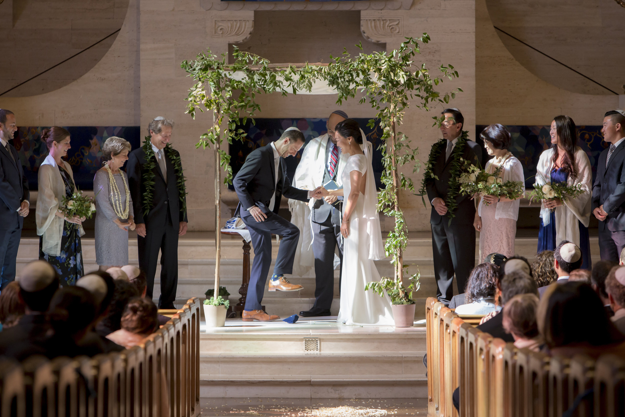 Our wedding day in the same synagogue