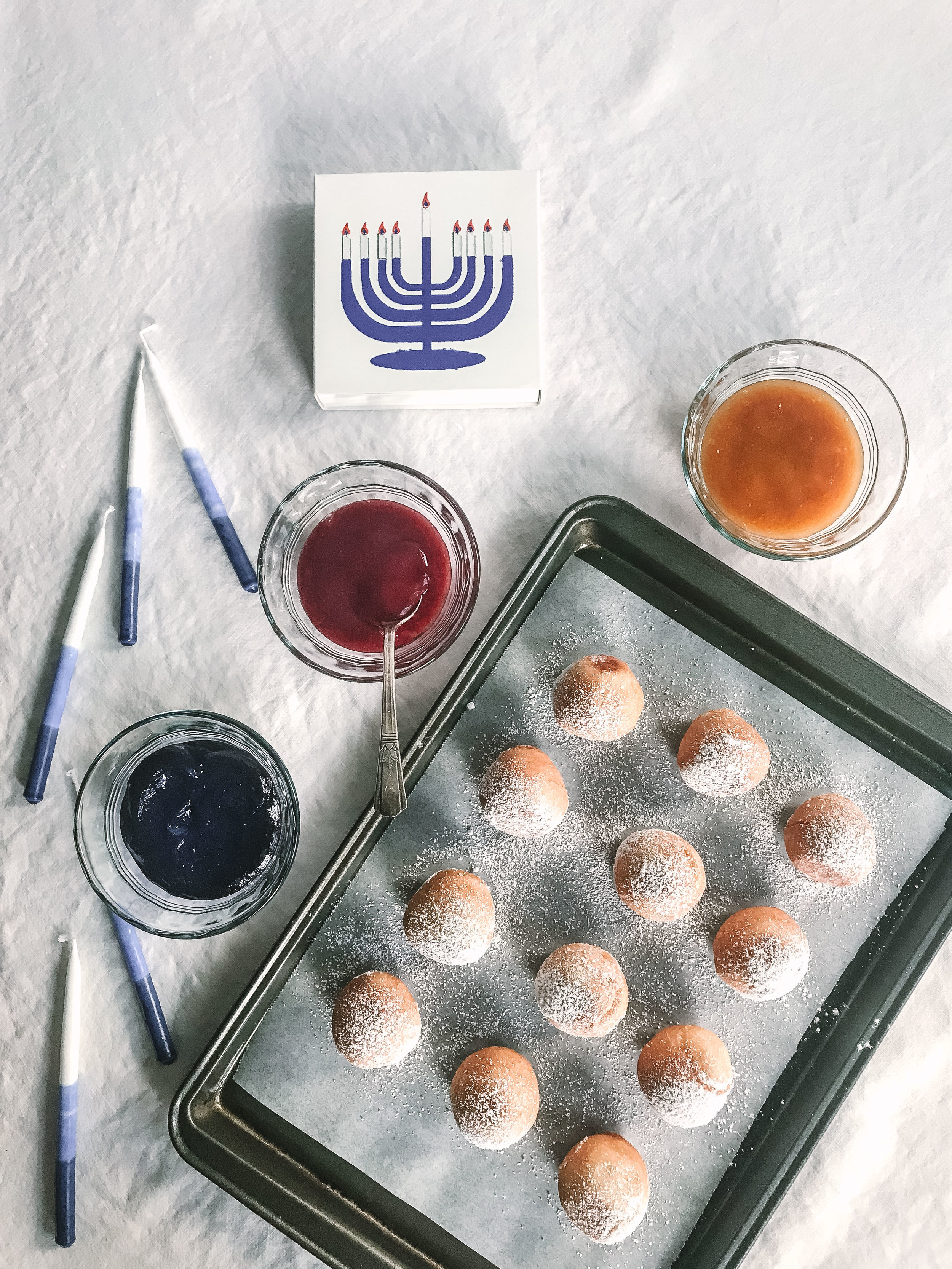 Hanukkah mochi doughnuts