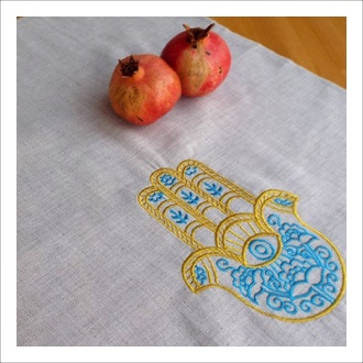 Nourish Co. Products | Hamsa Tea Towel