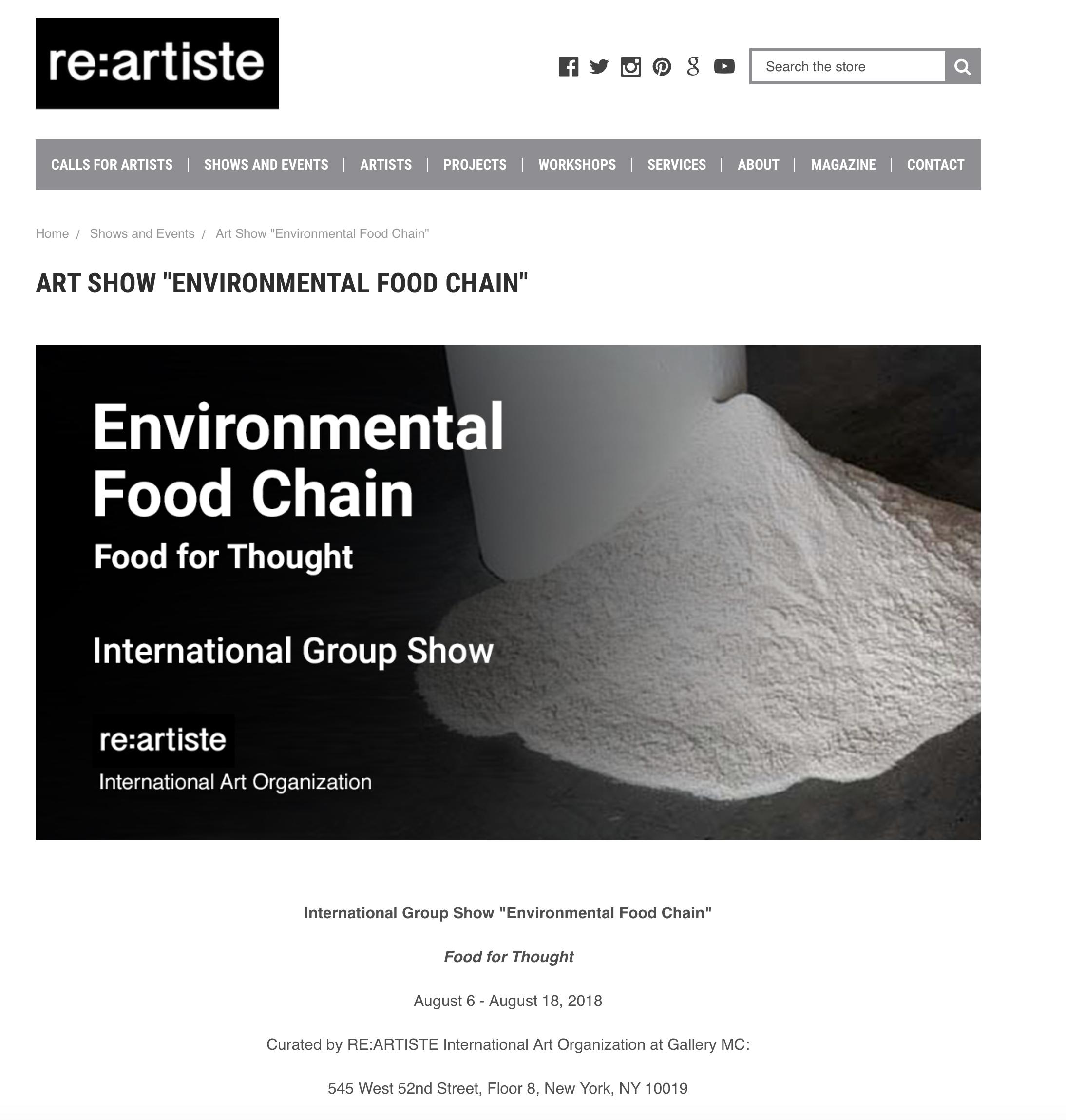 http://www.reartiste.com/art-show-environmental-food-chain/