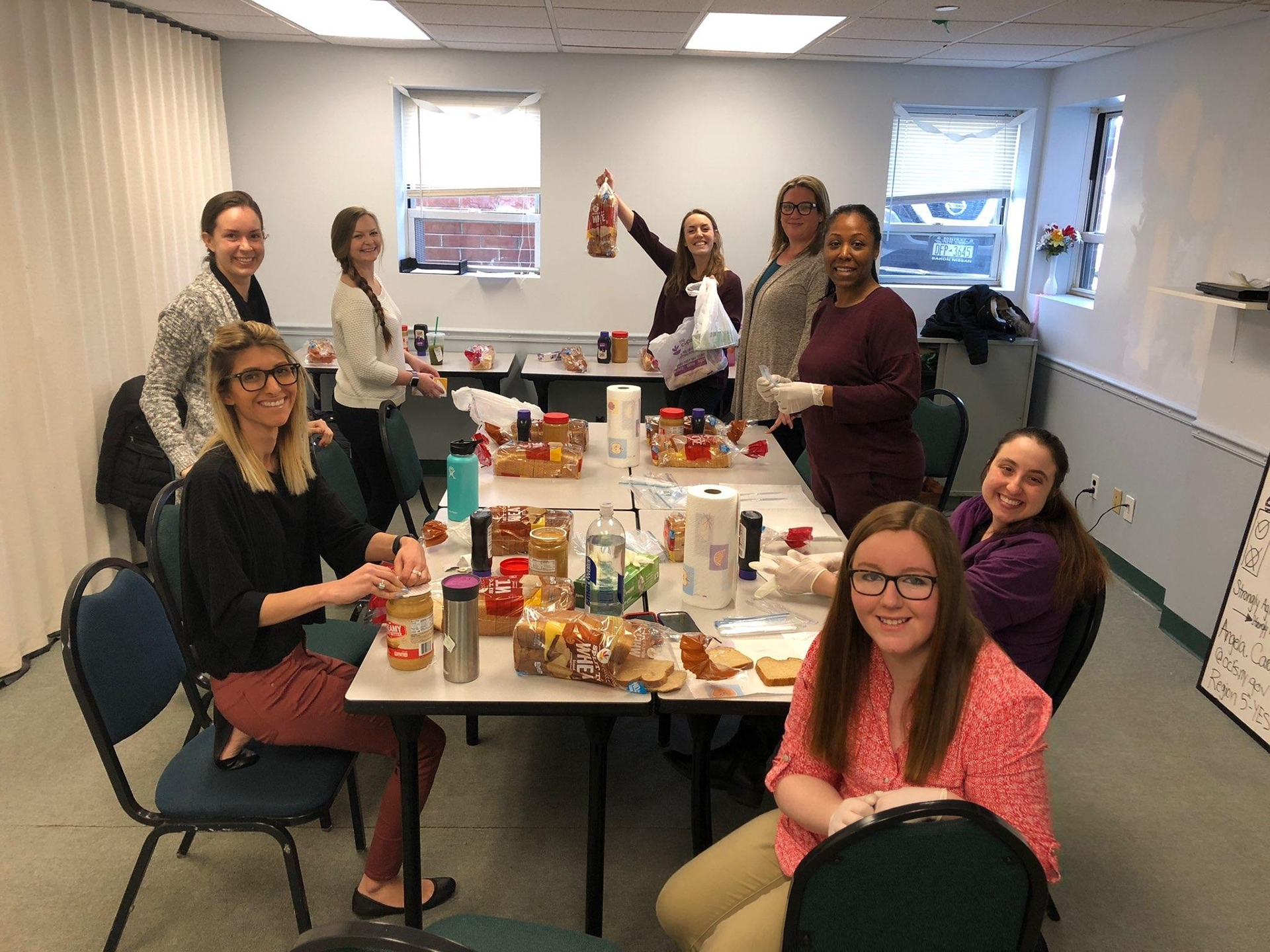 RISE Program   The team made 125 PB&J sandwiches for two local food banks. We will be continuing to this on an ongoing monthly basis!