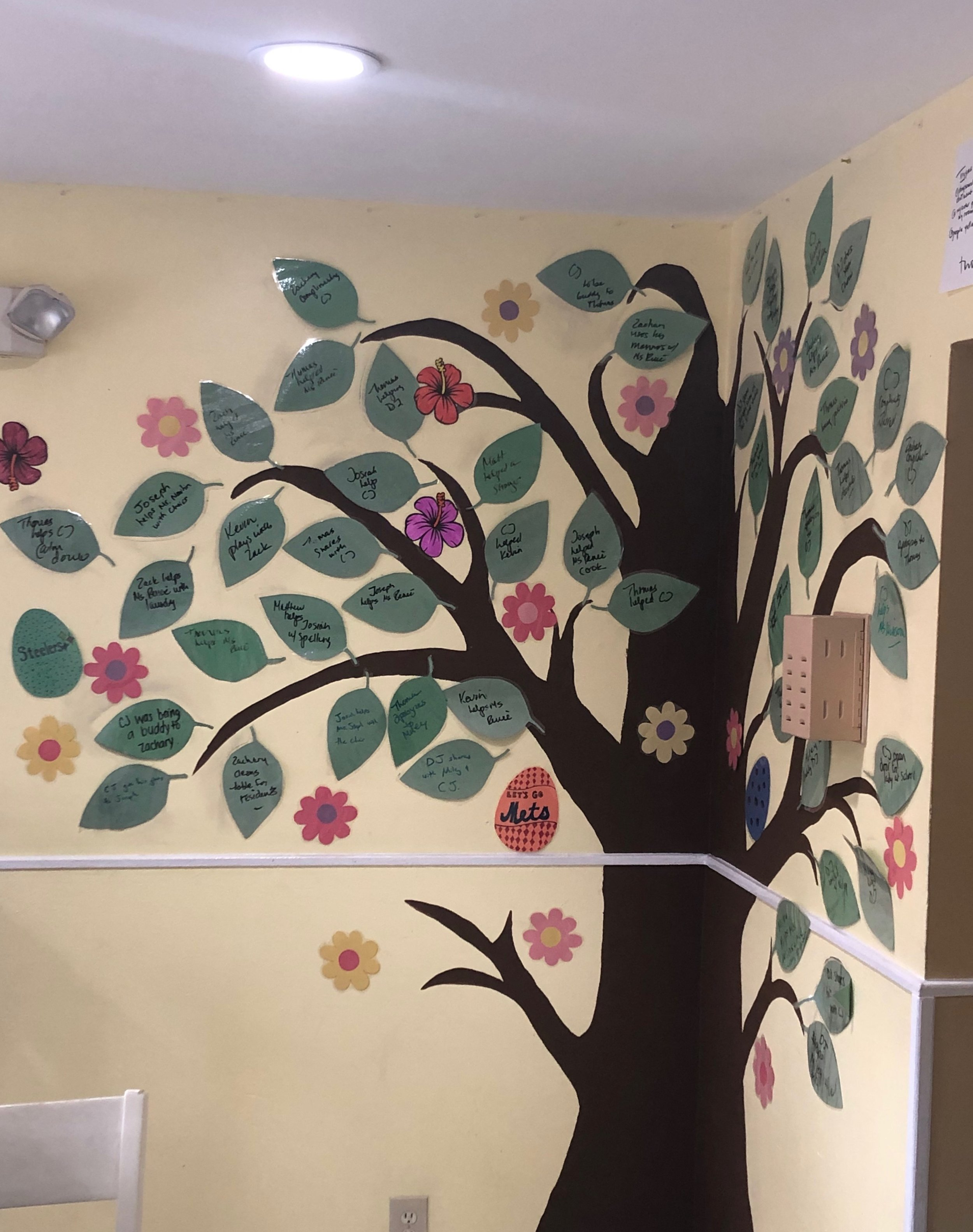 Merrick Group Home   Residents created an Acts of Kindness Tree. Every time they fill the tree it will be considered one act of kindness. Our goal is to complete as many trees as possible!