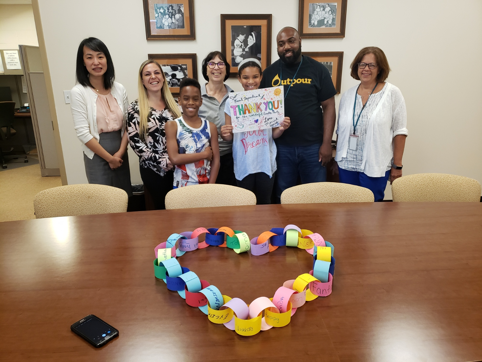 Merrick Group Home   Merrick Residents made thank you cards for staff in the fiscal department who provided them with special Easter treats!