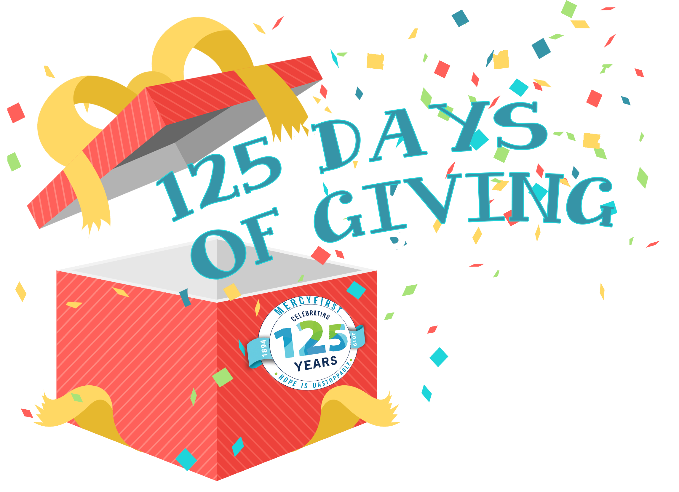 125 Days of Giving   Senior Staff have decided to give away 125 gift cards to 125 staff over the next 125 days!