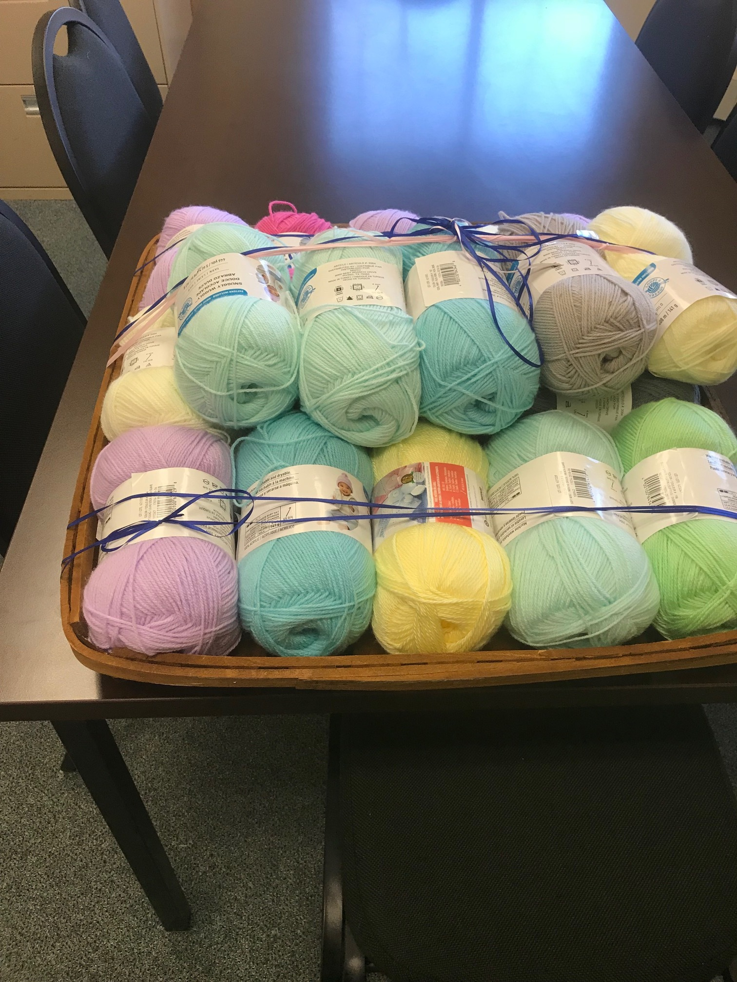 Yarn for Youth   Human Resources donated more than $100 dollars to purchase yarn for youth in our START With Hope Program who loved knitting hats for babies.