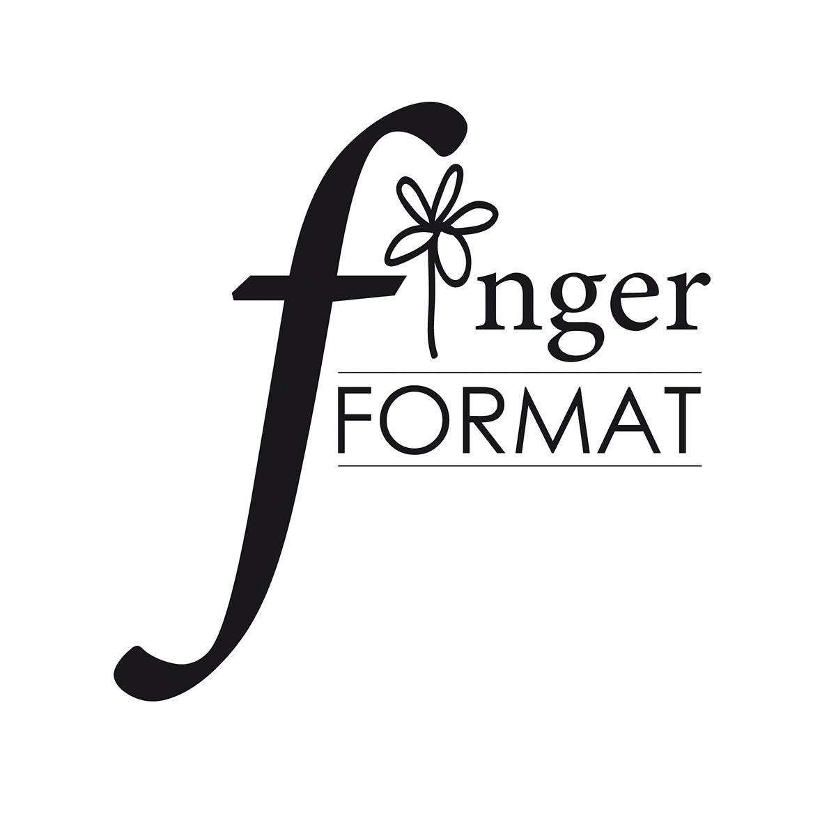 Fingerformat   Inger Gabrielsson, grafisk designer. Hemsida.